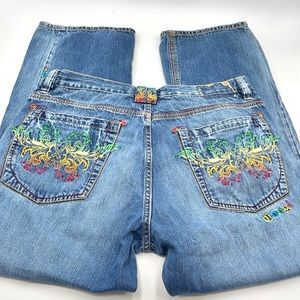 COOGI men's denim jeans embroidered pockets sz 40